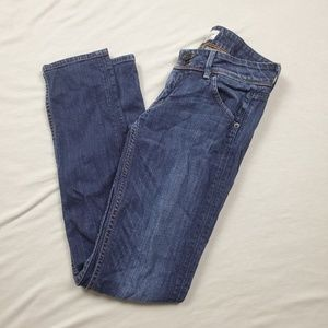 HUDSON Collin Flap Pocket Blue Skinny Jeans 26
